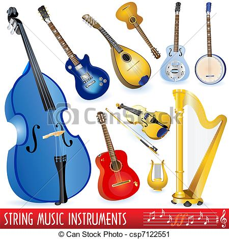 Stringed instruments clipart #4