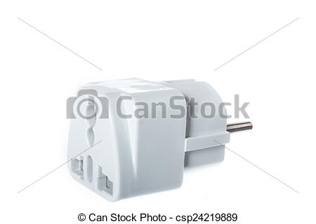 Pictures of universal American to European travel adapter.
