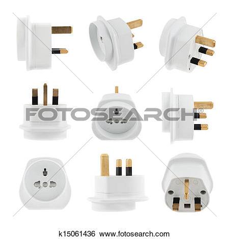 Plug adapter clipart #11