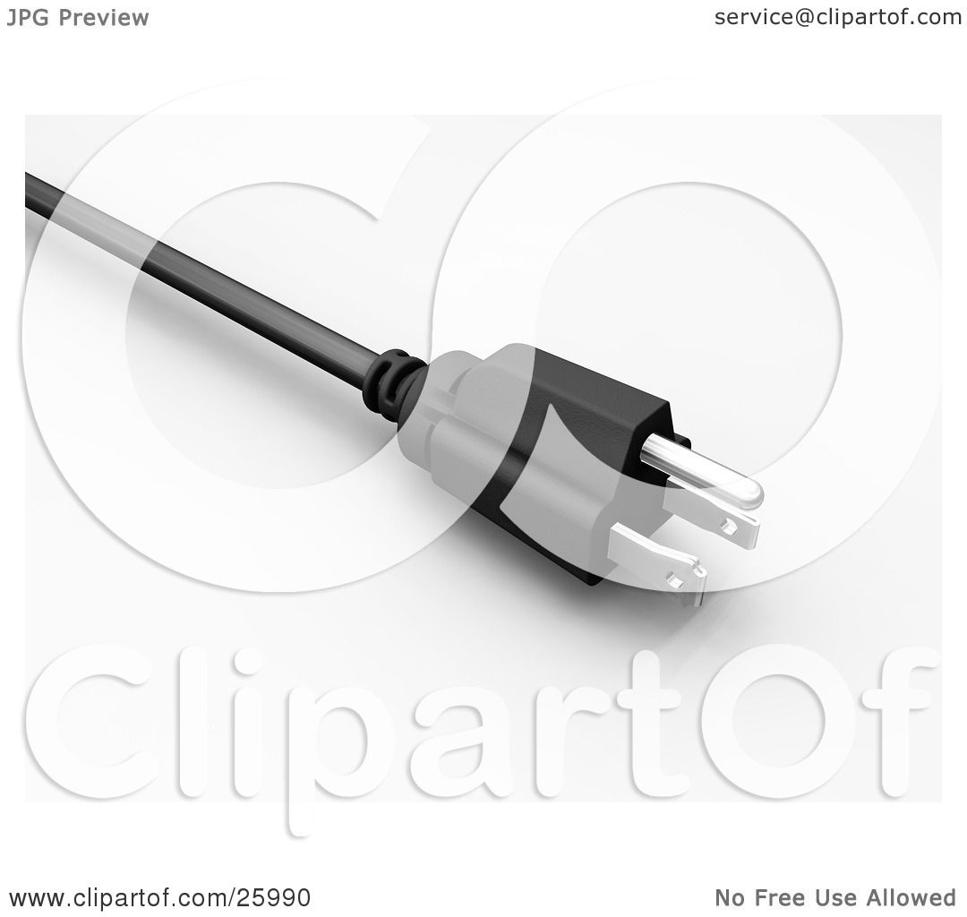 Clipart Illustration of a Closeup Of A Black And Silver American.