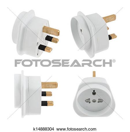 Plug adapter clipart #18