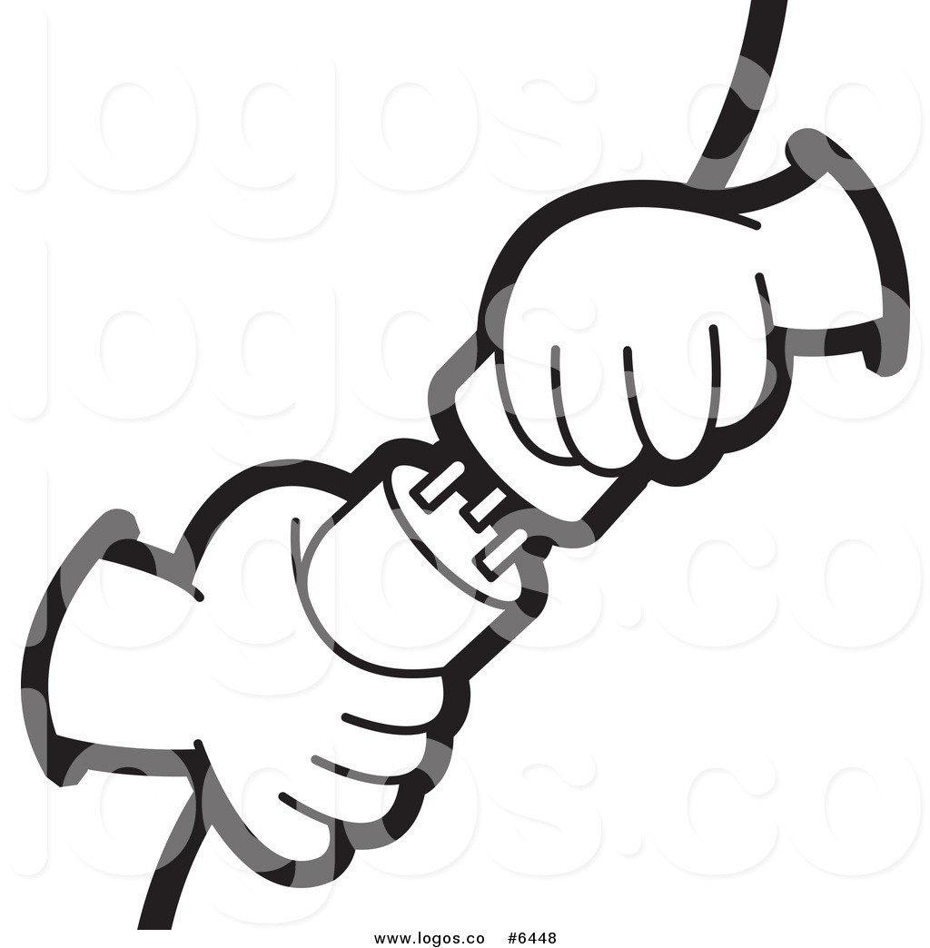 Royalty Free Clip Art Vector Logo of Electrican Hands.