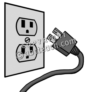 Clip Art: Electricity: Outlet.