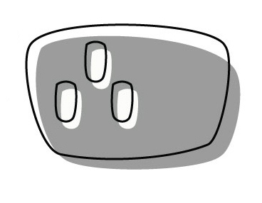 "my ""clipart"" plug socket illustration (01)."