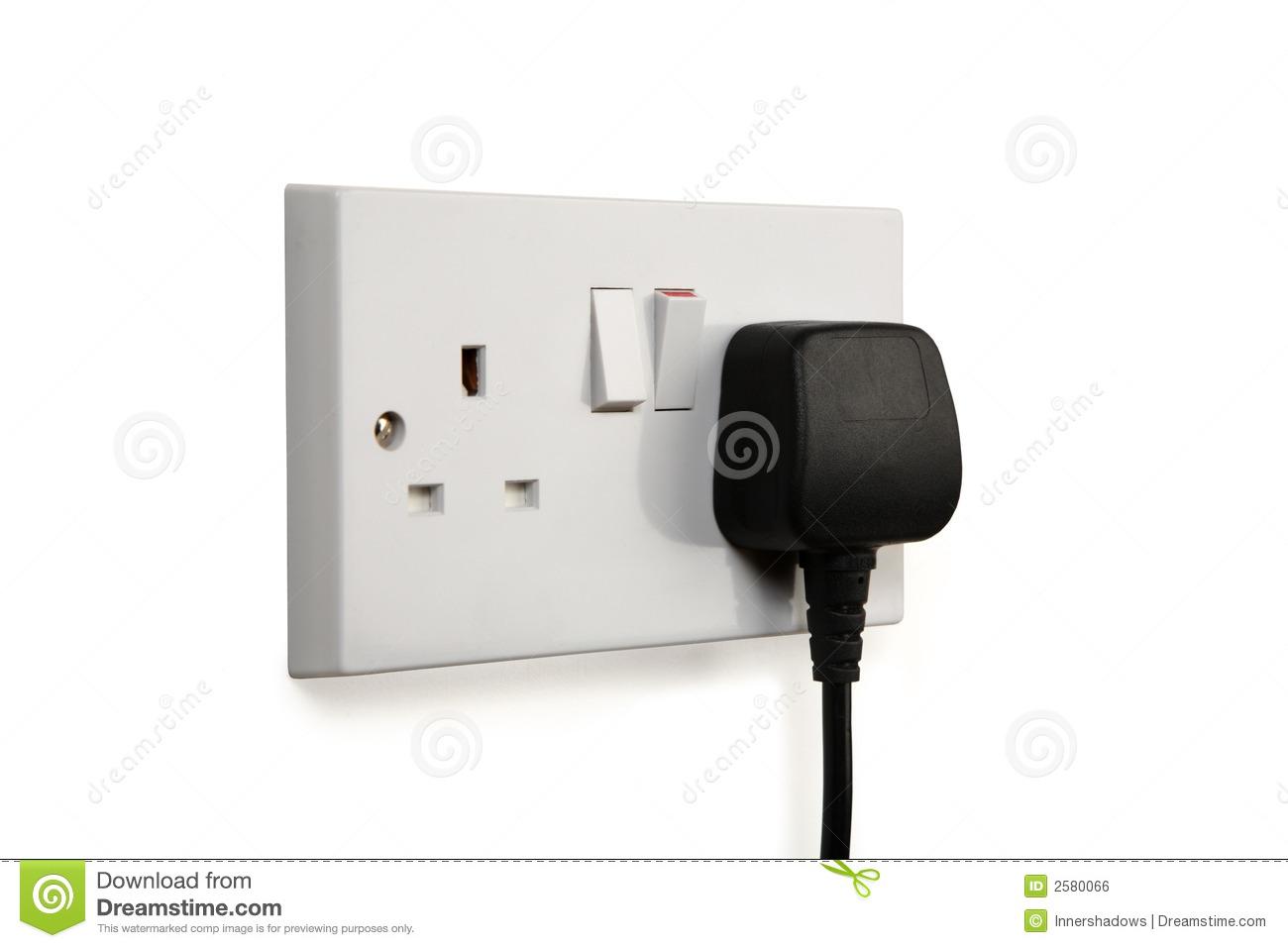 Socket and plug clipart.
