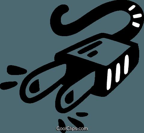 electric plug Royalty Free Vector Clip Art illustration.
