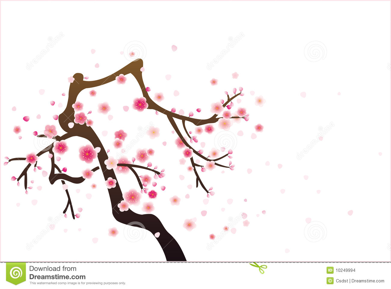 Cherry Or Plum Blossom Pattern Stock Photography.