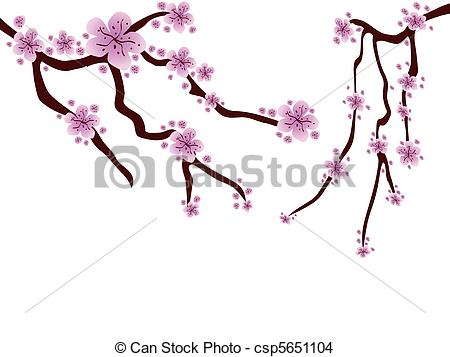 EPS Vector of plum blossom.