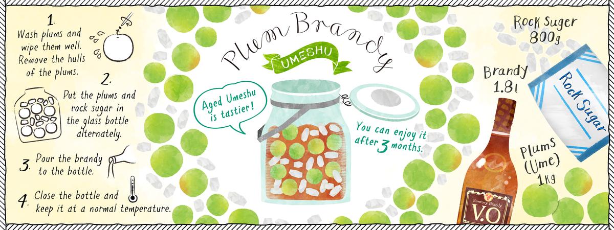 Homemade Plum brandy (Umeshu) by Rie Nicheco.