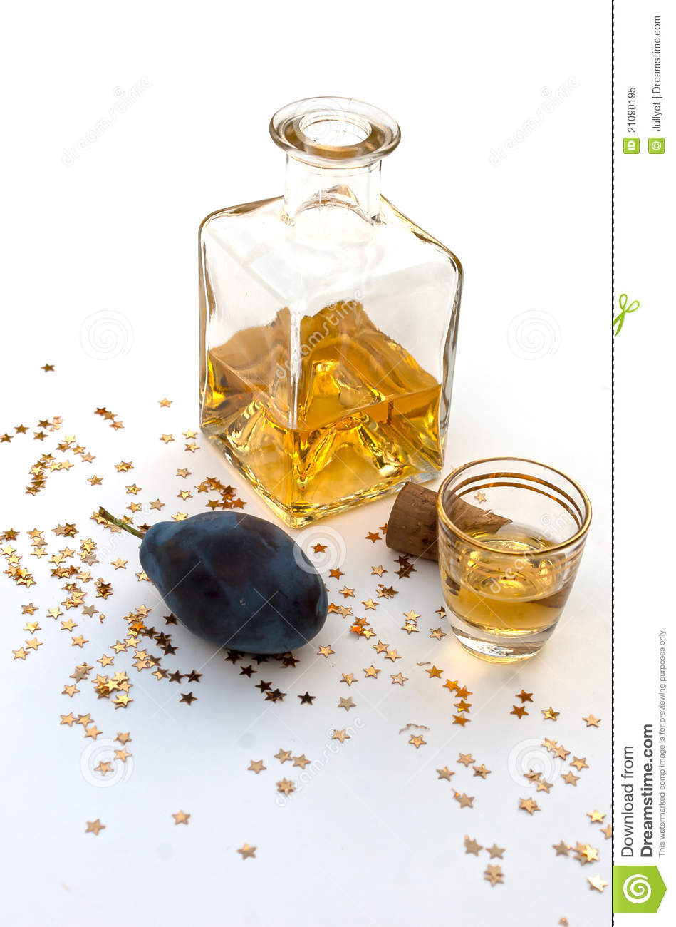 Plum Brandy Royalty Free Stock Photo.