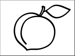 Clip Art: Basic Words: Plum B&W Unlabeled I abcteach.com.