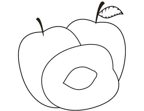 Plum Clipart coloring page.
