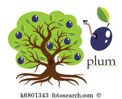 Plum tree Clipart Illustrations. 770 plum tree clip art vector EPS.