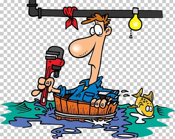 Leak Plumber Cartoon Plumbing PNG, Clipart, Art, Artwork.
