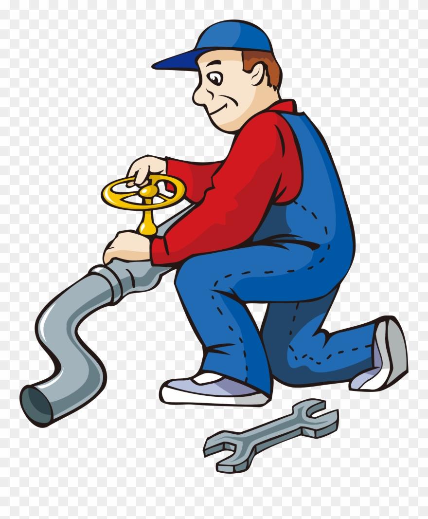 Cartoon Water Pipe Repairman Transprent Png Free.