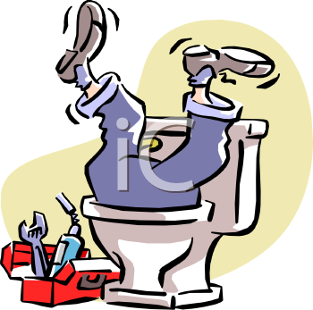 Funny Plumbing Clipart.
