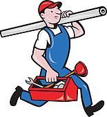 Plumber Clip Art Vector Graphics. 10,409 plumber EPS clipart.