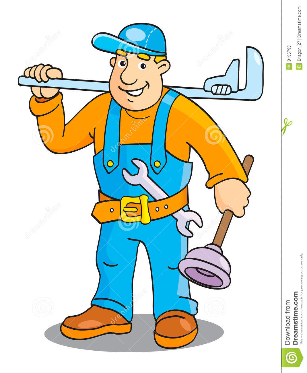 Plumber Royalty Free Stock Photo.