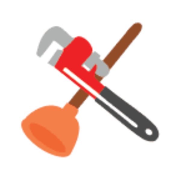 Plumbing tools clipart.