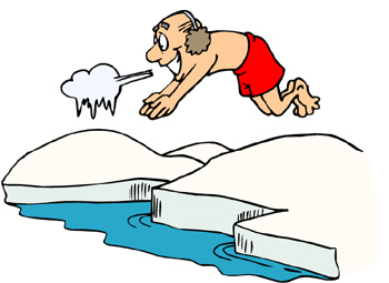 Polar Bear Plunge Clipart.