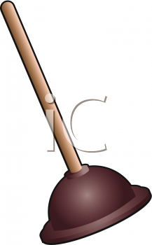 Clipart Illustration of a Plunger.