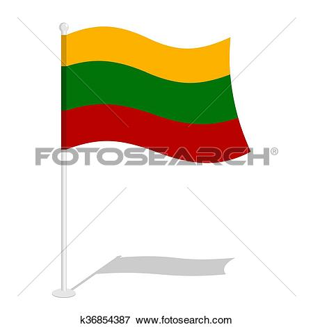 Clip Art of Bolivia Flag. Official national symbol of Bolivian.