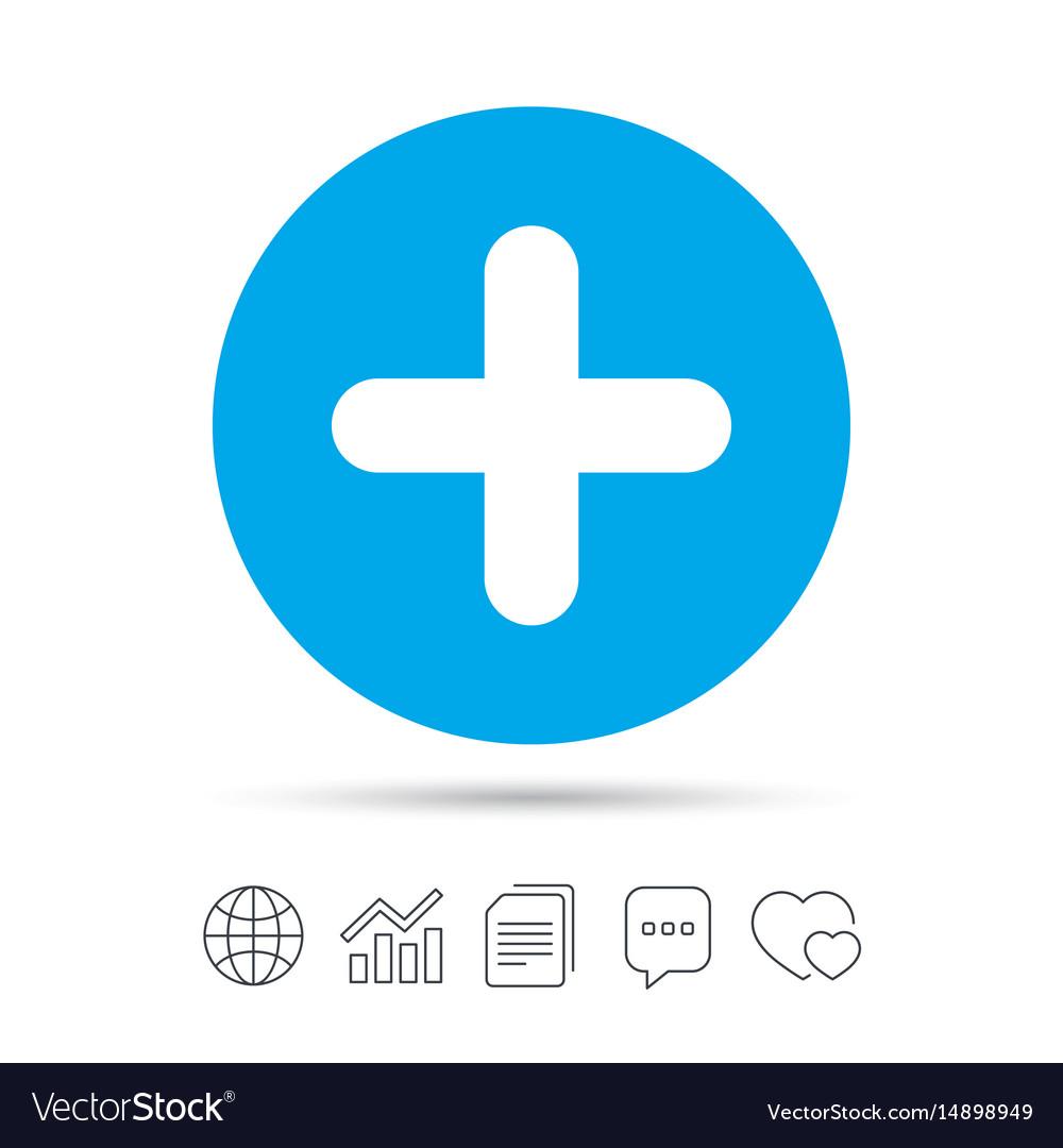 Plus sign icon positive symbol.