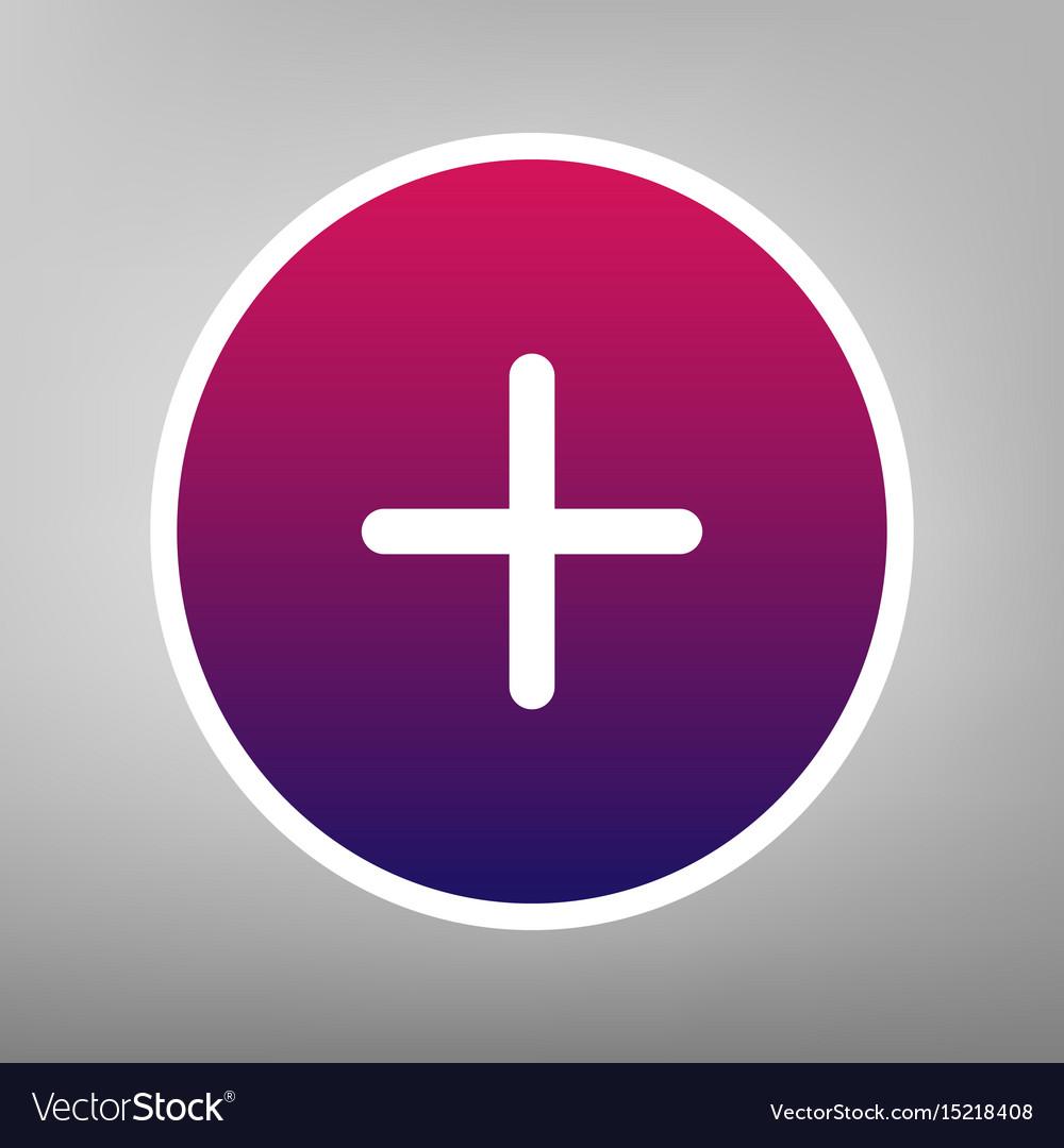 Positive symbol plus sign purple gradient.