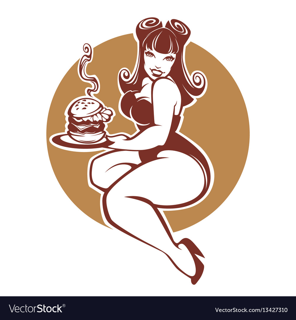 Beauty plus size pinup girl with gigantic tasty.