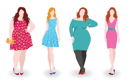 Plus size models photos clipart.