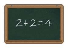 Basic Addition Sum Blackboard Stock Illustrations.