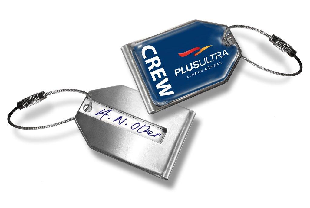 Plus Ultra Logo Luggage Tag.