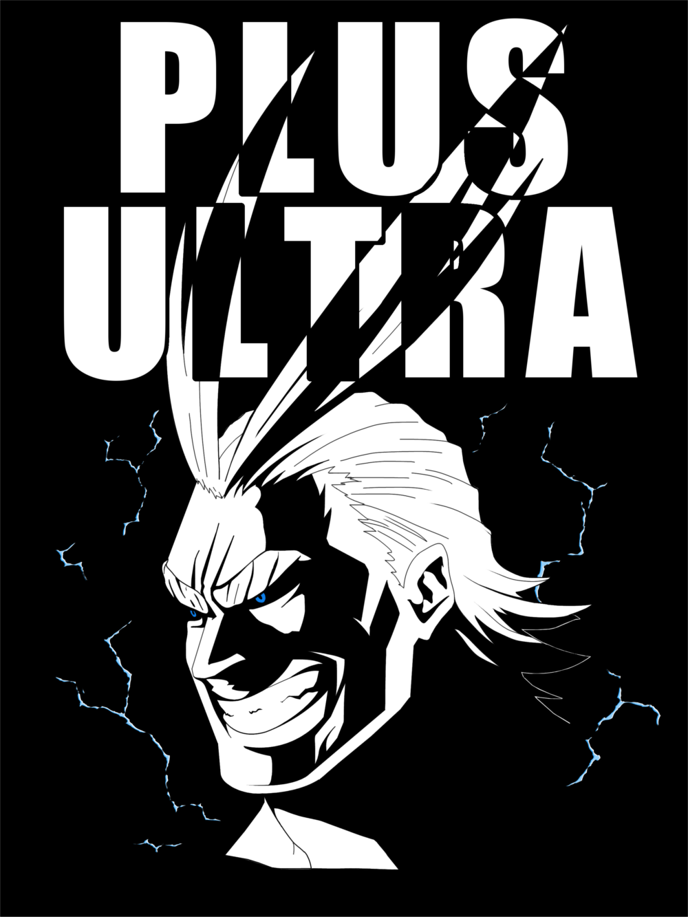 All Might: PLUS ULTRA! Poster — Steemit.