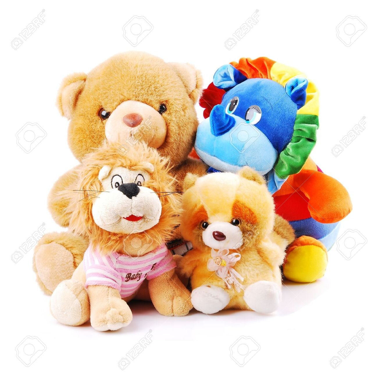 Pile Of Stuffed Animals Clipart.