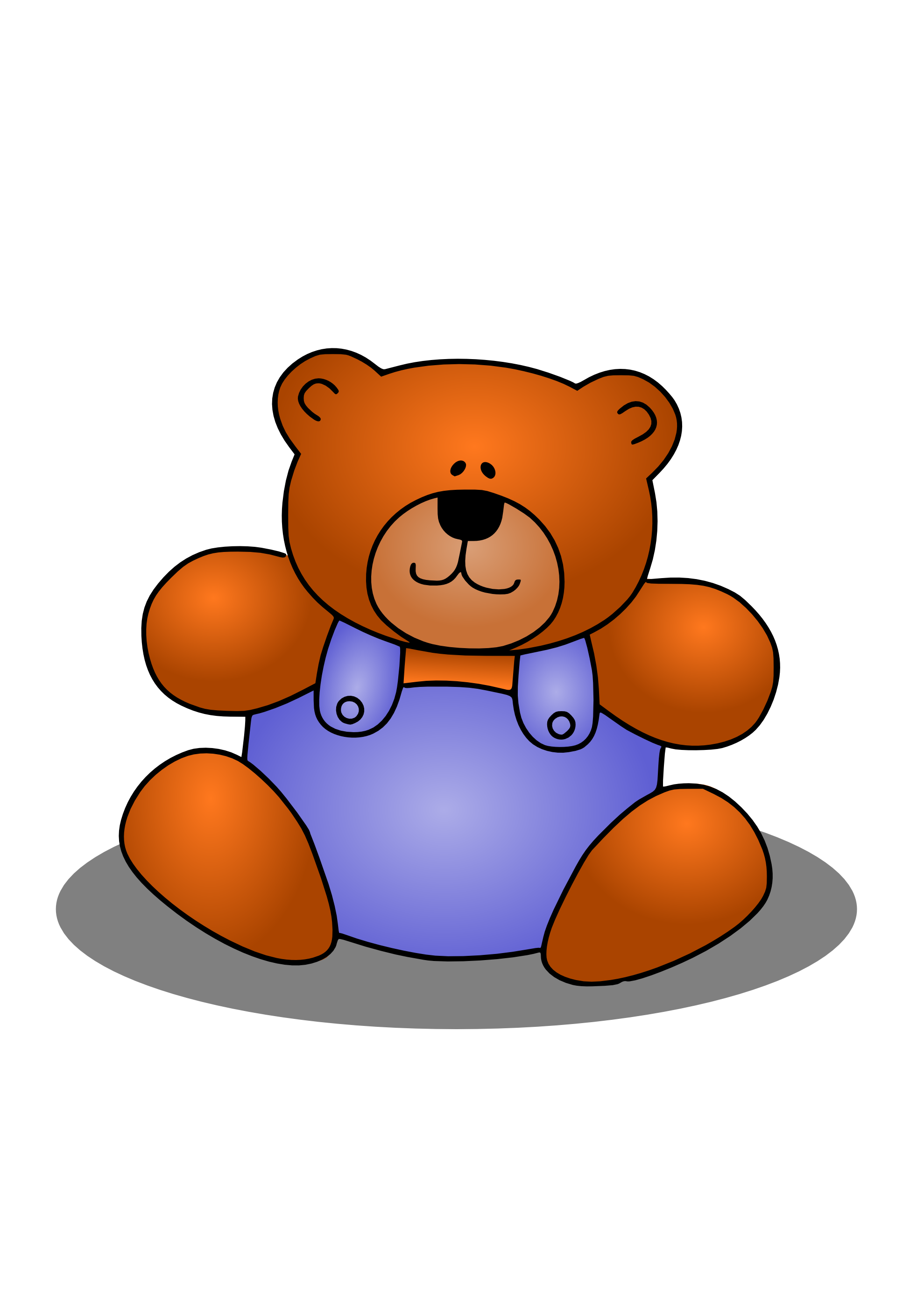 Stuffed animal dog clipart.