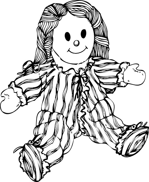 Stuffed Doll clip art Free vector in Open office drawing svg.