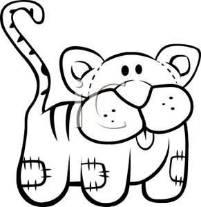 Stuffed Animal Black And White Clipart.
