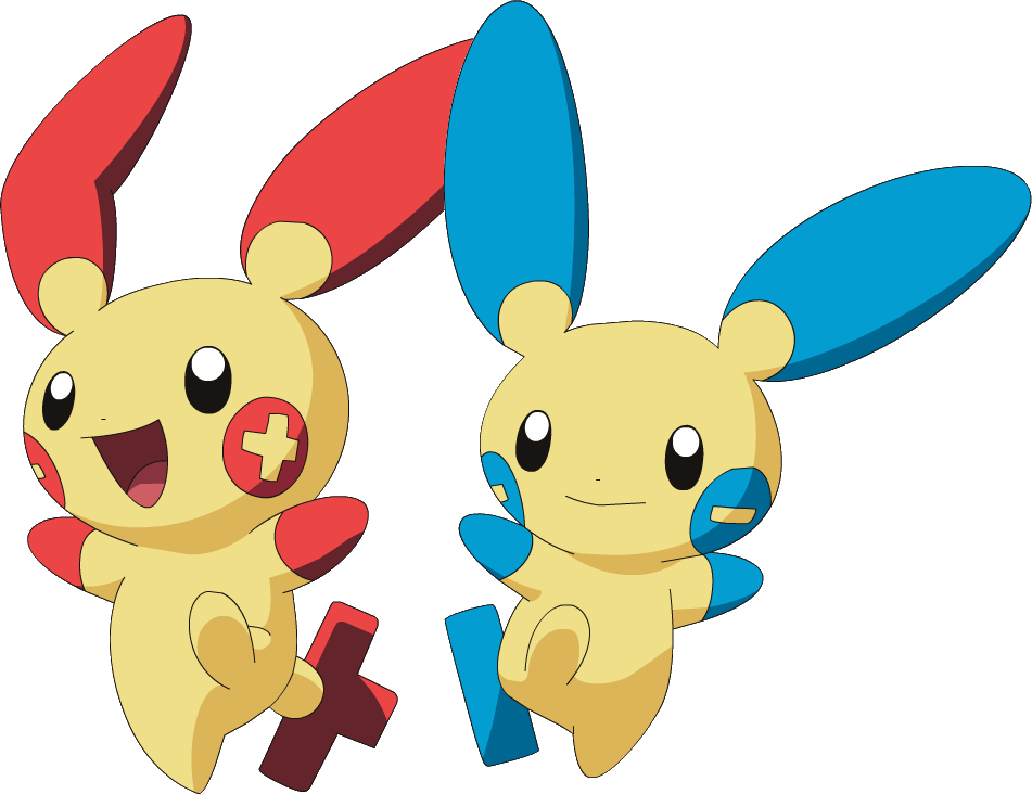 Plusle and Minun.