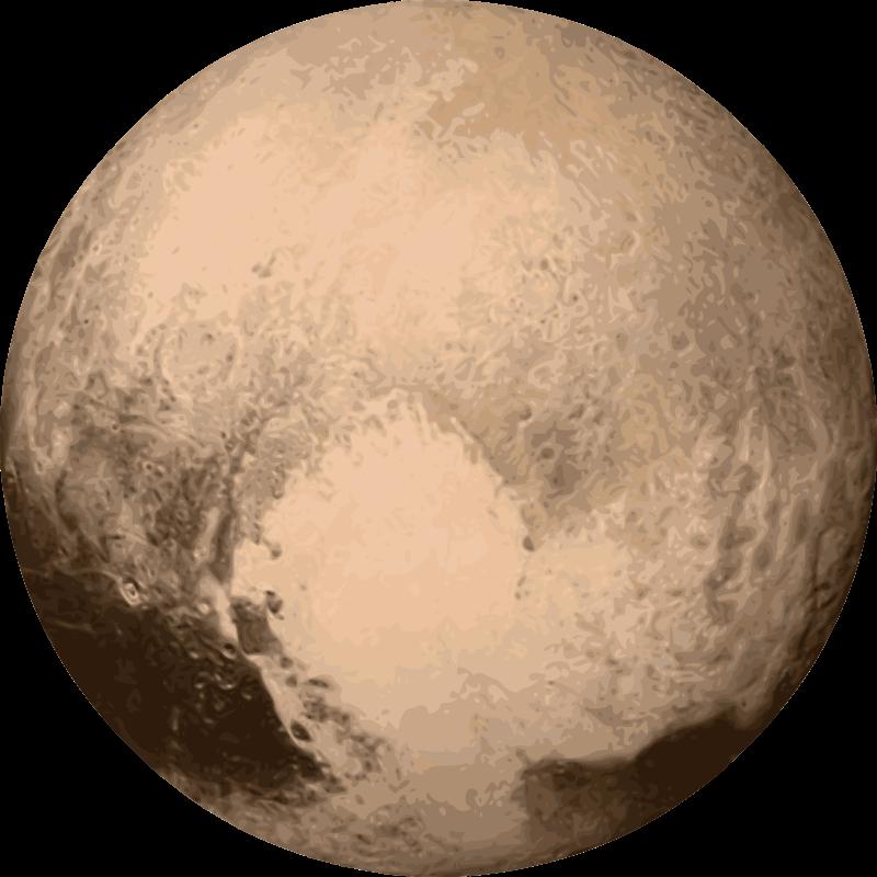 Free Planet Pluto Clip Art.