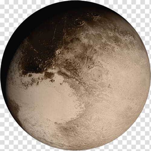 New Horizons Pluto Earth Dwarf planet, earth transparent.