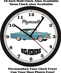 Amazon.com: 1955 PLYMOUTH BELVEDERE 4DR WALL CLOCK.