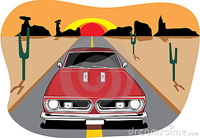 Plymouth Belvedere Classic Car Stock Illustrations.