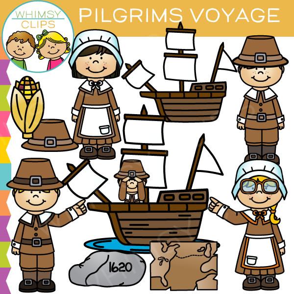 Pilgrims Voyage Clip Art , Images & Illustrations.