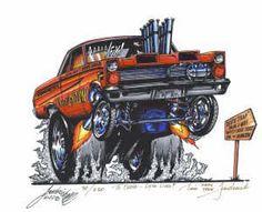 1964 Ford Fairlane Gasser.