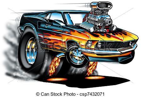 Camaro Car Animated Clip Art.