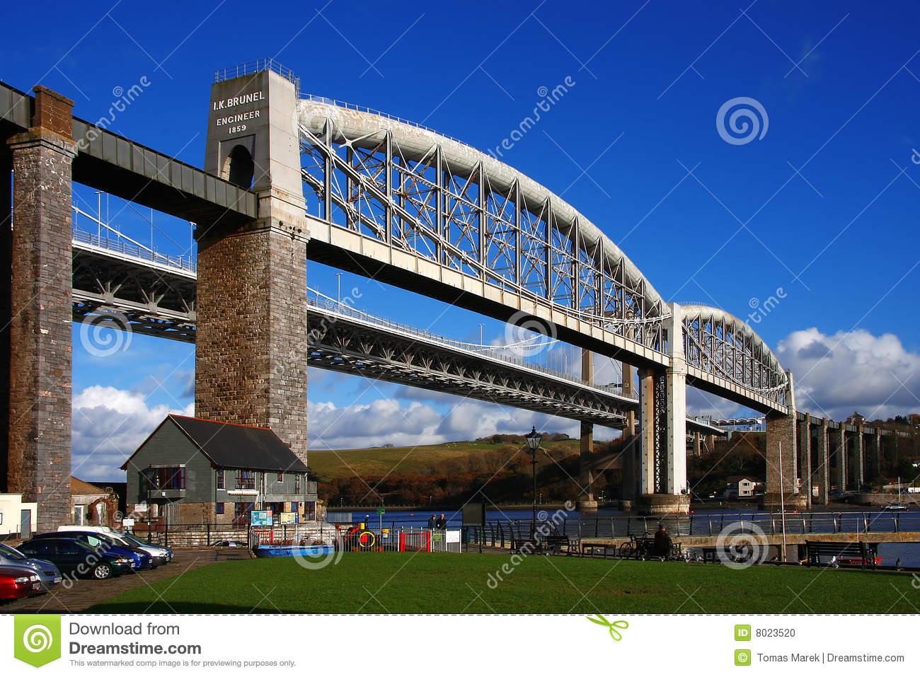 The Oldest Railway Bridge Plymouth, UK Stock Photo.
