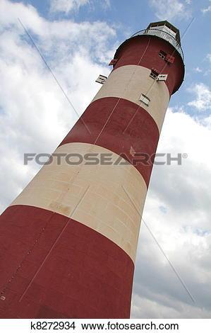 Stock Photo of Lighthouse, Plymouth, UK k8272934.