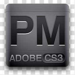 CS Magneto Icons, PageMaker, PM Adobe CS logo transparent.