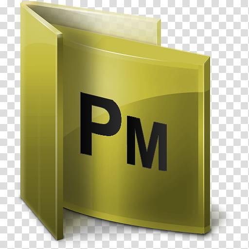 Adobe CS Folders, PM logo transparent background PNG clipart.