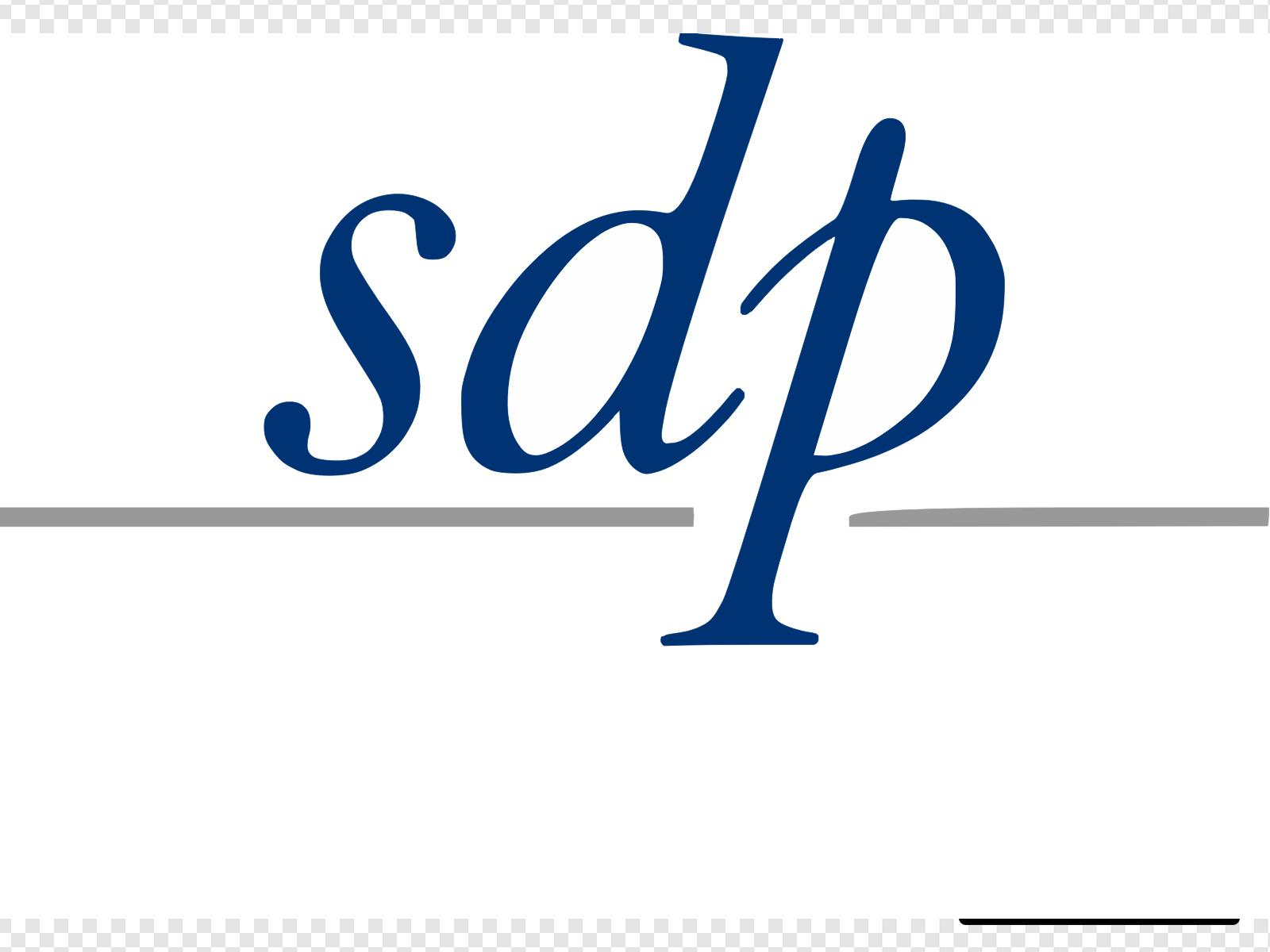 Sdp Logo With Drop Stacked Pms Blue Pms Silver Clip art.